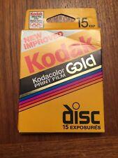 New Improved Kodak Kodacolor Gold Disc Film 15 Exposures - Exp. 07/1996 (SEALED)