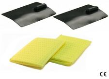 ^ Sw 2 Electrodes Silicone Rubber 50x100mm 2 Sponges Pockets Iontophoresis Tens