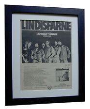 LINDISFARNE+ALAN HILL+TOUR+POSTER+AD+RARE ORIGINAL 1973+FRAMED+FAST WORLD SHIP