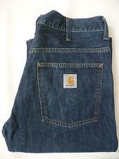 CARHARTT staff Pant jeans Da Uomo Gamba Dritta W31 L34 Blu # V 574