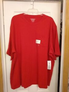 Men's T-Shirt With Pocket~Saddlebred Comfort Flex~XXL~Rapid Red