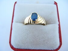 Vintage Gorgeous Ladies 14kt Yellow Gold Sapphire Ring .85ct Size 8.25