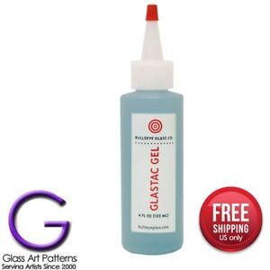 Bullseye GlasTac Gel Adhesive Fusers Glass Glue 4oz Warm Glass Fusing Supplies