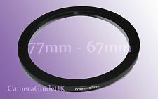 77mm to 67mm Male-Female Stepping Step Down Filter Ring Adapter 77mm-67mm UK