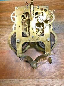 Old Gilbert Clock Movement For Parts/Repair (Untested/Springs Good) (K1180)