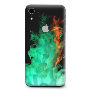 Skins Decal Wrap for Apple iPhone XR - Orange Green Smoke