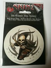Spiral Skinz, Gothic Grim Reaper Skateboard Sticker, Skull, Vinyl, Decoration