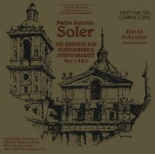 David Schrader, A. S - Quintets for Harpsichord & Strings 1 & 2 [New CD]