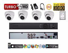 4 Channel HD-TVI Tribrid Turbo + 4 pcs 2MP TVI/CVI/AHD 4 IN 1 Dome Cameras w.2TB