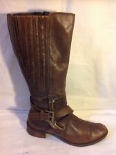 Jana Brown Knee High Leather Boots Size 6G