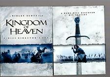 KINGDOM OF HEAVEN 4 x DVD DIRECTOR's CUT + NOTES + BOÎTIER CARTON COMME NEUF