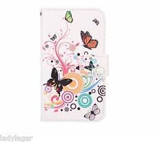 Custodia libro stampato portabiglietti PU pelle per Samsung Galaxy Note 4 N9100