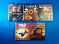 BLU-RAY ACCION KARATE KID 1 2 Y 3 DRAGON LA VIDA DE BRUCE LEE EL ULTIMO SAMURAI