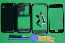 New Housing Cover & Outer Screen Lens Glass For Samsung Galaxy S i9000 black
