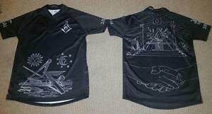 Masonic Rugby with G shirt, Black Square + Compasses, 2B1A1, Freemason , Mason