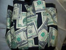 MONEY PRINT ASSORTMENT  PRINT CLOTH BINGO BAG HANDMADE