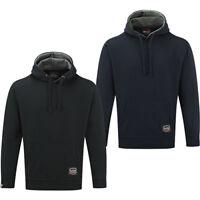 Tuffstuff Men's Fleece Hoody Work Jumper Jacket with Hood and Front Pouch Pocket