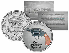 COLT DETECTIVE SPECIAL Gun Firearm JFK Kennedy Half Dollar US Colorized Coin