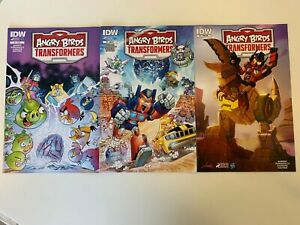 IDW ANGRY BIRDS TRANSFORMERS #1 : ALL COVERS - REG, SUB, & RI : NM CONDITION