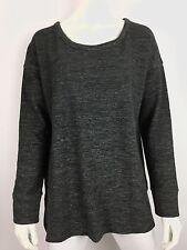 James Perse Sz 2 (M) Dolman Pullover Sweater Sweatshirt Black Melange NWT $175
