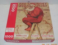 """Springbook 1000 Piece Jigsaw Puzzle 24"""" x 30"""" Christmas """"Mapping His Course"""""""