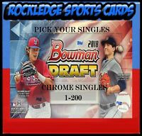 2018 Bowman Draft Chrome Baseball Singles 1-200 (Pick Your Cards)