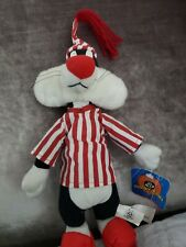"Play By Play Looney Tunes Sylvester In Red Stripes Pajama 14"" Plush Toy"