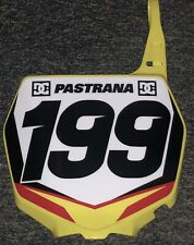 Travis Pastrana #199 Nitro Circus Replica Front Number Plate Unsigned