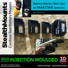 MAKITA 18v Lithium Ion BATTERY BELT CLIP MOUNTS for Tool Belt Shelf Rack x 5