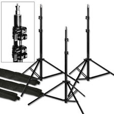 "3 Light Stands Pro 7'6""  Heavy Duty Photo Studio Photographic Light Stands"
