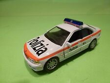 HONGWELL BMW 5 SERIES 528i - E39 - POLIZIA POLICE - WHITE 1:43 - GOOD CONDITION