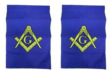 12x18 Mason Masonic Embroidered Garden Flag 210D Sleeved Double Sided USA SHIP