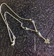 """Sterling Silver and Lapis Lazuli, 18"""" necklace with Celtic Knot Pendant, 5 gram"""