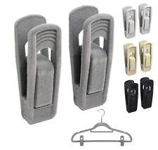 20X Non Slip Velvet Hanger Clip For Clothes Pant Coat Skirt Strong Finger Clips