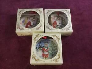 3 Royal Doulton Bunnykins  CHRISTMAS TREE DECORATIONS / ORNAMENTS BOXED