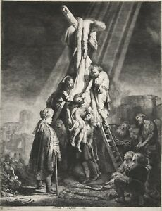 Rembrandt Etching Reproductions: The Descent from the Cross: Fine Art Print