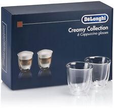 DELONGHI 6ER SATZ TASSEN THERMISCH GLÄSER CAPPUCCINO DOPPEL WAND GLAS 190ml