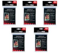 (500) Ultra Pro Premium Platinum Trading Card Sleeves Heavy Duty 5 Packs