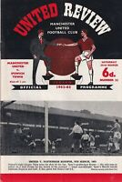 Manchester United Ipswich Town 1962 – 63 Football Programme review #21
