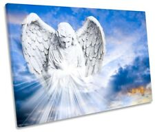 Fantasy Winter Warm Glow Landscape Wall Art Canvas Pictures Angel Wings