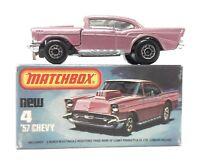 Matchbox Superfast 1-75 MB 4 Chevrolet Chevy ´57 light purple body Lesney box