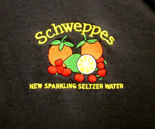 SCHWEPPES logo medium polo shirt Sparkling Seltzer Water polyester ginger ales