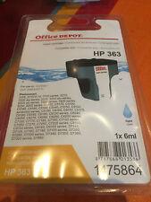 Cartouche encre HP 363 neuve Bleu (Light Cyan), Office Dépôt compatible, val 15€