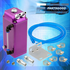 For Miata MX5 Protege Mazdaspeed Purple Square Oil Catch Can Reservoir Tank Kit(Fits: More than one vehicle)