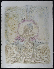 BERNARD BERTHOIS-RIGAL Original Carborundum Etching, L'Arbre Qui Reve, Signed #d