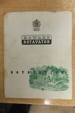 howard rotavator rotavation book vintage tractor rotary hoes agricutural