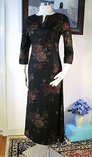 NWT Laura Ashley Black and multi flower mid-calf Dress Size US 4 UK 8 EUR 34