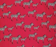 Valance Window Curtain Zebra Animal Print Black White Red