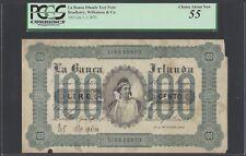 Italy  La Banca Irlanda Test note 100 lire1-1-1870 Pick BW-361b specimen