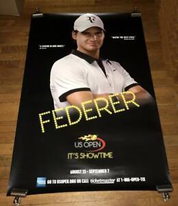 2008 US OPEN SUBWAY POSTER Roger Federer RARE